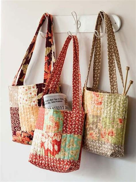 Patchwork Items - make 3 totes from one charm pack quilting digest