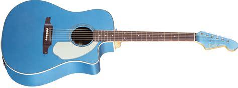 light blue fender electric guitar sonoran sce fender acoustic guitars