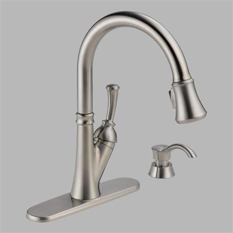 delta allora kitchen faucet delta allora stainless steel kitchen faucet leaking