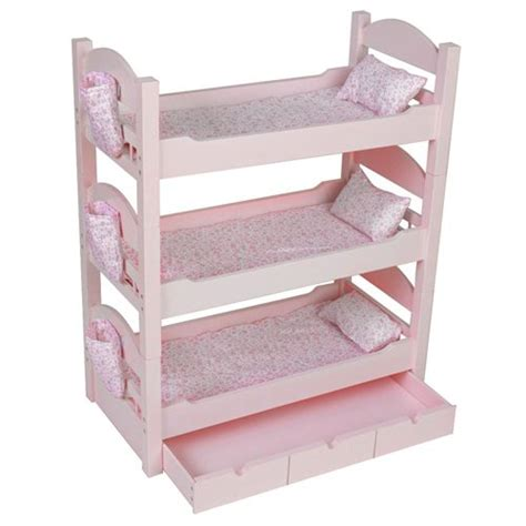 our generation doll bed triple bunk beds trundle sleeps 4 18 quot dolls our generation