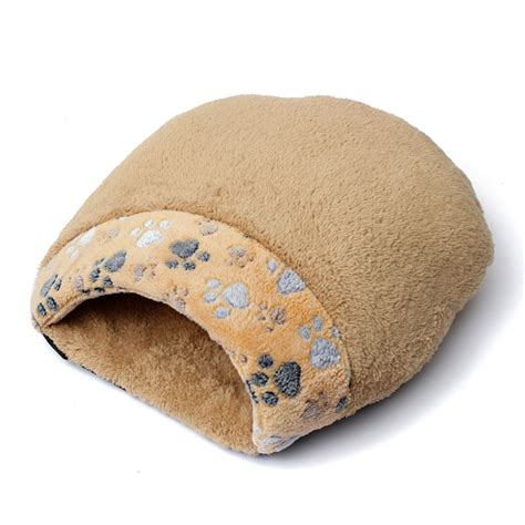 bed sack cat dog sleeping bag warm snuggle sack pet bed house cave