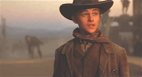 film cowboy leonardo dicaprio cowboy gif find share on giphy