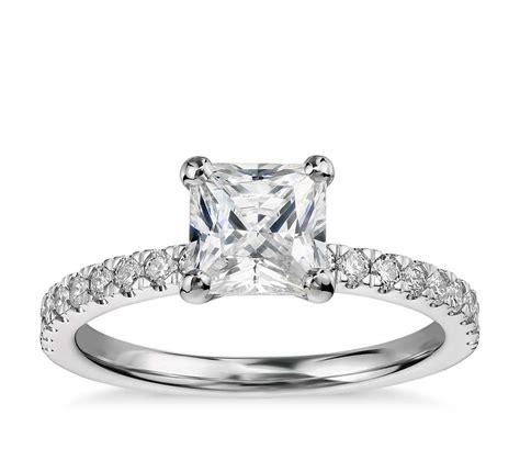 1 Carat Engagement Ring by 1 Carat Preset Princess Cut Pav 233 Engagement