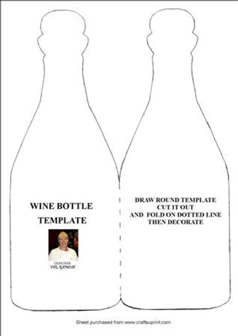 wine card template wine bottle template cup98440 116 craftsuprint