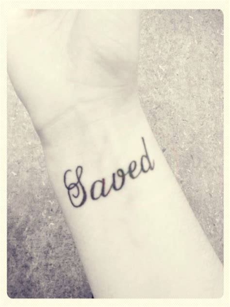 grace wrist tattoo quot saved quot wrist my christian saved by the