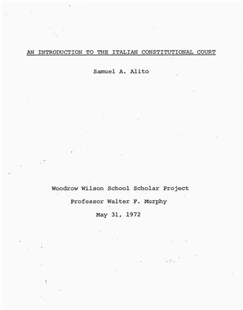 title page thesis samuel a alito senior thesis title page