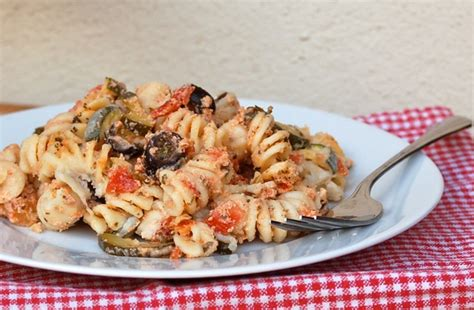 baked pasta with zucchini and cottage cheese weight