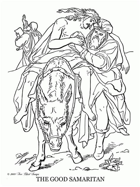 coloring pages for the samaritan coloring pages of the samaritan coloring home