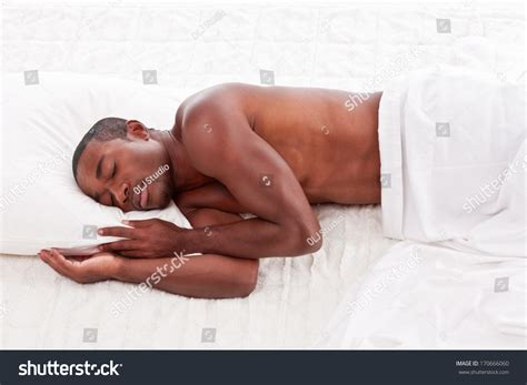 african men in bed young handsome athletic muscular ethnic black stock photo