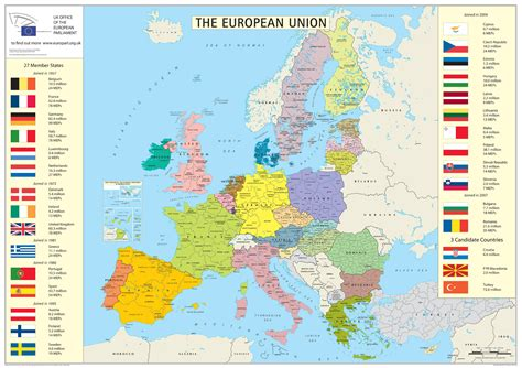 european union map european union member states detailed map detailed map of