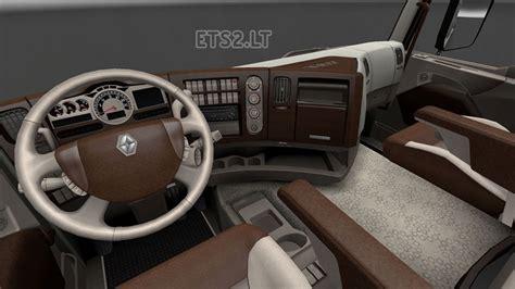 renault truck interior renault premium wood interior ets 2 mods