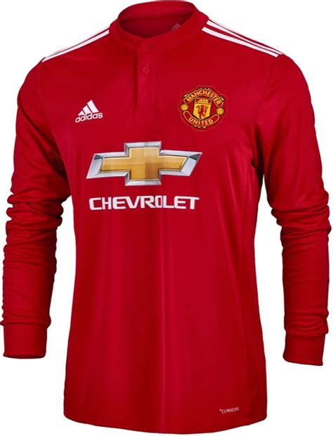 Jersey Manchester United Ls adidas manchester united l s jersey 2017 18