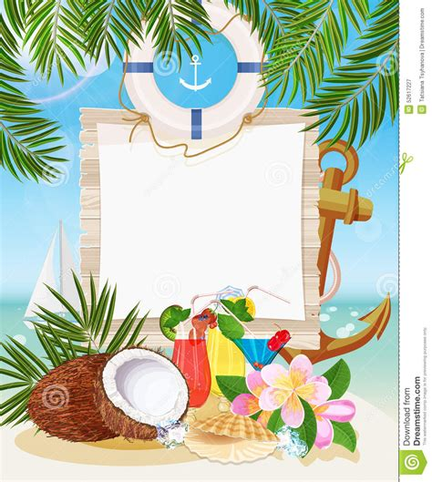 Tropical Beach Bar Stock Vector Image Of Place Holiday 52617227 Tropical Menu Template Free