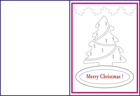 printable greeting cards for coloring christmas tree coloring pages and greeting cards