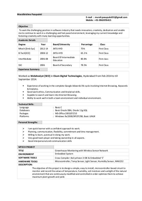 Oracle Dba Fresher Resume Dba Resume Template