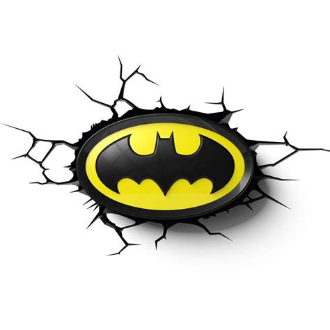 Batman Logo 1 batman logo 3d wall light merchoid
