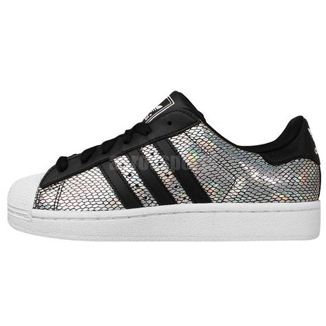 adidas originals superstar 2 w silver holographic black
