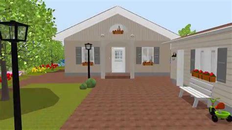 haus 3d 150901 bungalow 4 giebel mit garten erstellt mit sweet