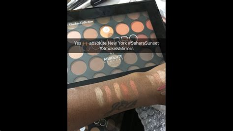 Absolute Icon Pro Palette Smoke Mirrors swatching absolute new york