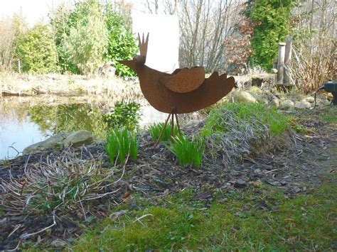 gartendeko vogel garten deko leistungen edelstahl