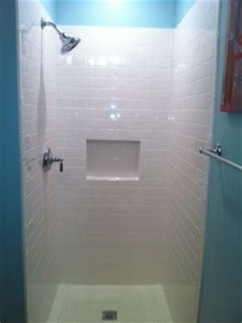New Shower Insert Meghan Josh In The Atl Shower Remodel Is A Go