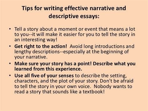 Writing A Descriptive Essay About A Person by Descriptive Writing