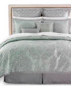 24pc martha stewart regal damask comforter set green