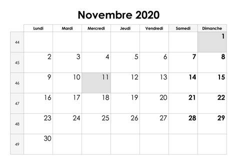 calendrier novembre  calendriersu