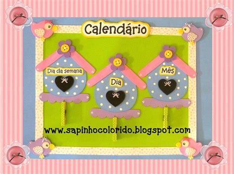 Calendario Cartulina Manualidades Calendario Casita De Pajaritos Manualidades En Goma