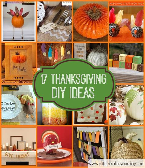 17 thanksgiving diy ideas a little craft in your day