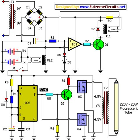 transistor emergency turn how to build ic controlled emergency light with charger circuit circuit diagram