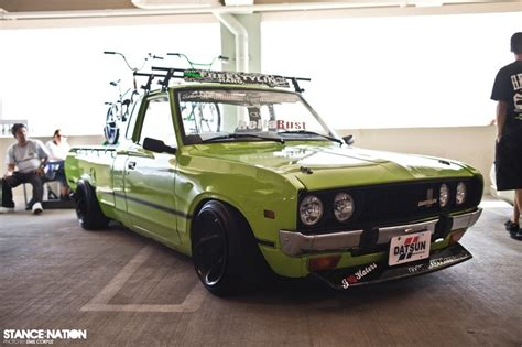 slammed datsun truck datsun 620 hellaflush car things pinterest the o