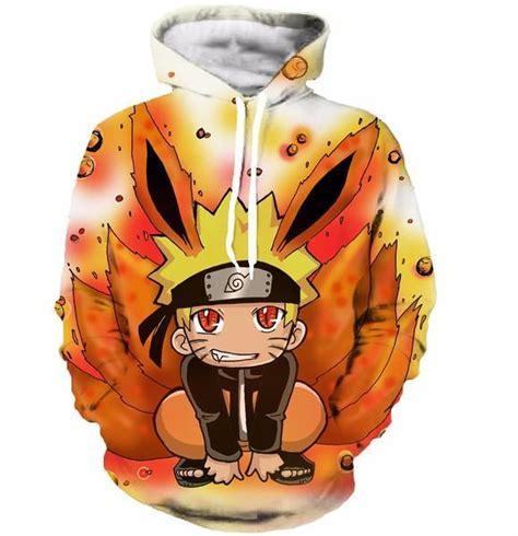 Hoodie Anime Umaru Orange kid kurama nine tails orange graphic