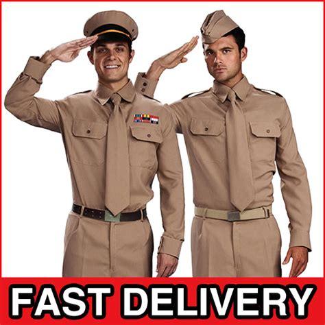 Dress Fast Hijau Army Blue Ac ww2 army costumes mens 1940s adults gi