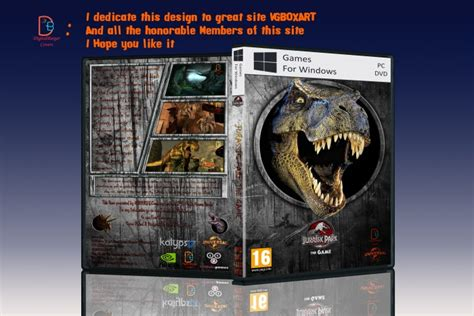 download jurassic park the game ps3 jurassic park the game pc box art cover by digitalburger
