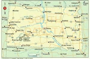 south dakota on us map south dakota cities map