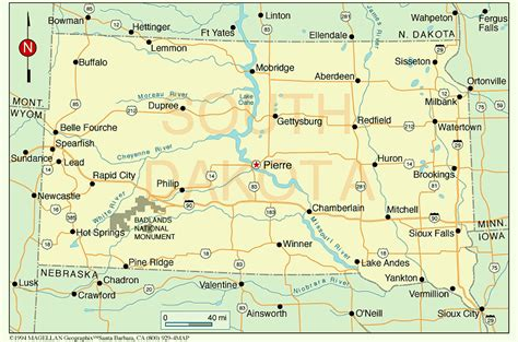 south dakota us map south dakota county map with cities map of usa states