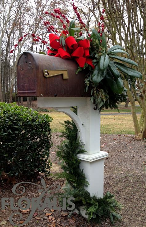holiday decor by floralis mailbox holiday design by