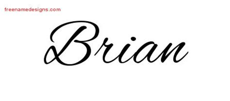 brian archives free name designs