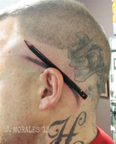 pen tattoo ear 17 incredibly realistic tattoos perfect tattoo artists
