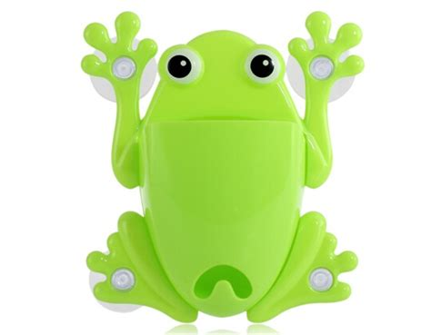 Frog Toothbrush Holder Green Intl frog toothbrush holder green in storage holders racks