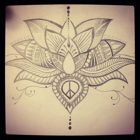 hand drawn tattoo designs lotus flower sketch diy lotus
