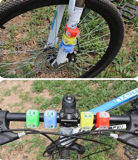 Small Colorful Bicycle Taillights Safety Light Lu Sepeda kitbon 2pcs silicone bike bicycle 3 mode led flash light