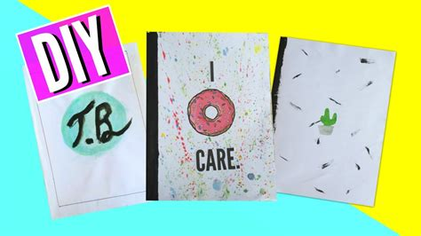 Note Book Decoration by 3 Ways To Decorate Your Notebook