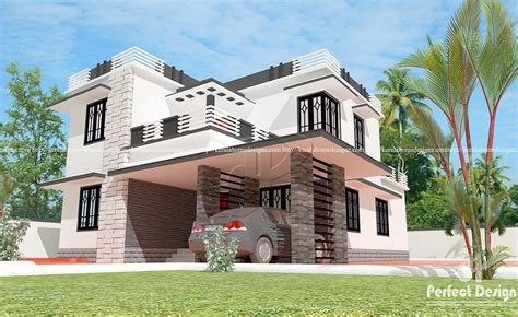 wide flat roof 3 bedroom home design kerala home design architecture house plans 4 bedrooms flat roof house kerala home design