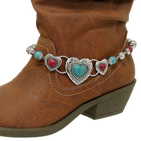 filigree western cowboy boot jewelry anklet
