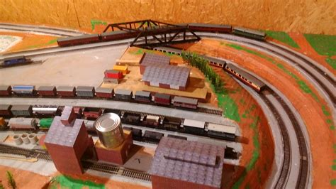 train layout blog trees and bridge added to ho layout model train help