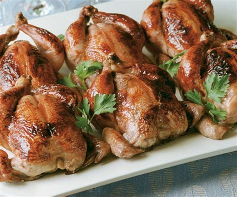 glazed roasted cornish game hens with couscous stuffing recipe cornish game hen