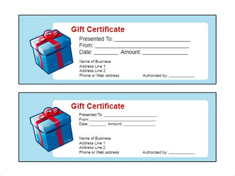 doc gift card template printable gift certificate template free doc