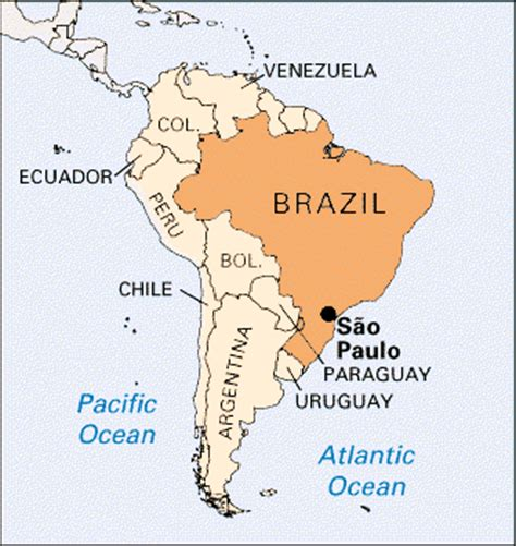 sao paulo on world map sao paulo location encyclopedia children s